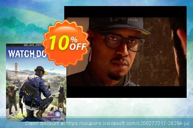 Watch Dogs 2 Deluxe Edition PC (US) discount 10% OFF, 2020 Thanksgiving offer