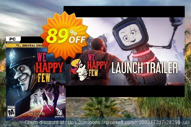 We Happy Few Deluxe Edition PC discount 69% OFF, 2020 Black Friday promo sales