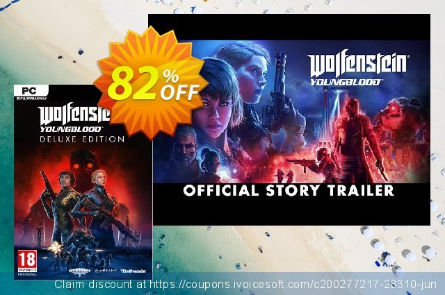 Wolfenstein: Youngblood Deluxe Edition PC (EMEA) discount 63% OFF, 2020 Thanksgiving Day promotions