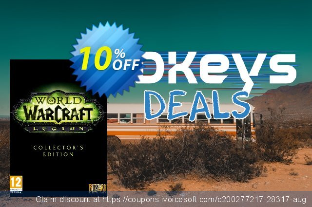 World of Warcraft (WoW) - Legion Digital Deluxe Edition PC (EU) discount 10% OFF, 2020 Year-End promo sales