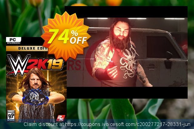 WWE 2K19 Deluxe Edition PC (EU) discount 74% OFF, 2020 Thanksgiving Day deals