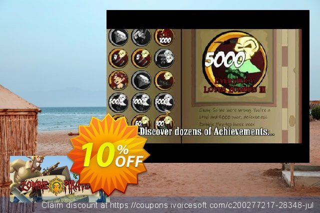 Zombie Pirates PC discount 10% OFF, 2020 Thanksgiving promotions
