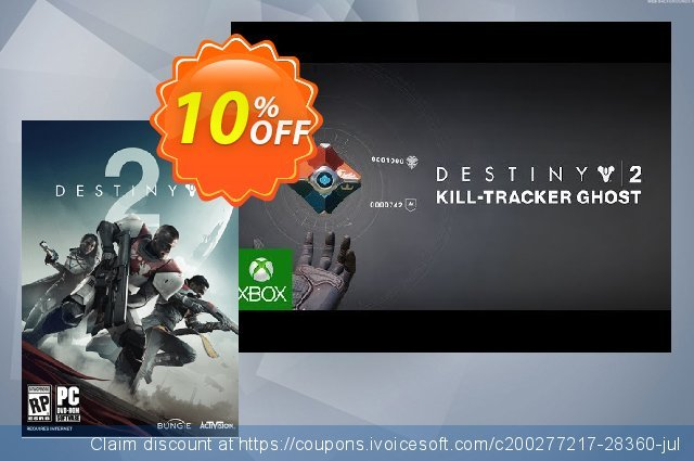Destiny 2 PC: Kill-Tracker Ghost DLC discount 10% OFF, 2020 Thanksgiving offering sales