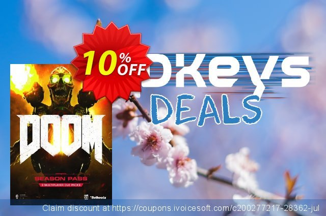 Doom Season Pass PC discount 10% OFF, 2020 Year-End offering sales