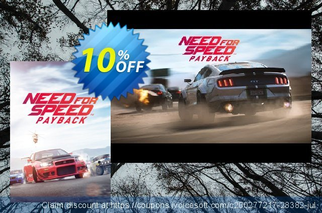 Need for Speed Payback - Platinum Car Pack DLC discount 10% OFF, 2020 Christmas offering sales