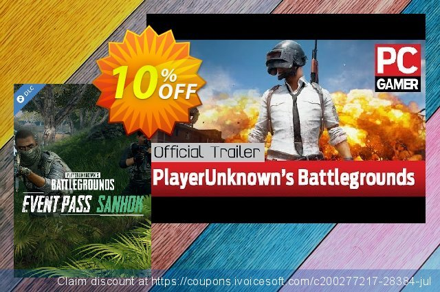 Playerunknowns Battlegrounds (PUBG) PC - Event Pass Sanhok DLC 令人惊讶的 促销 软件截图