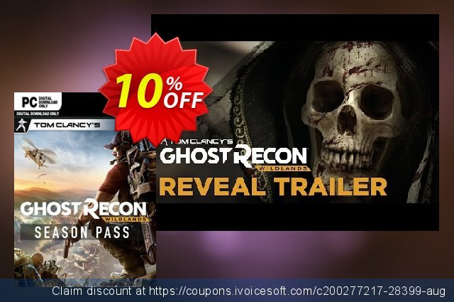 Tom Clancy's Ghost Recon Wildlands Season Pass PC 美妙的 优惠 软件截图
