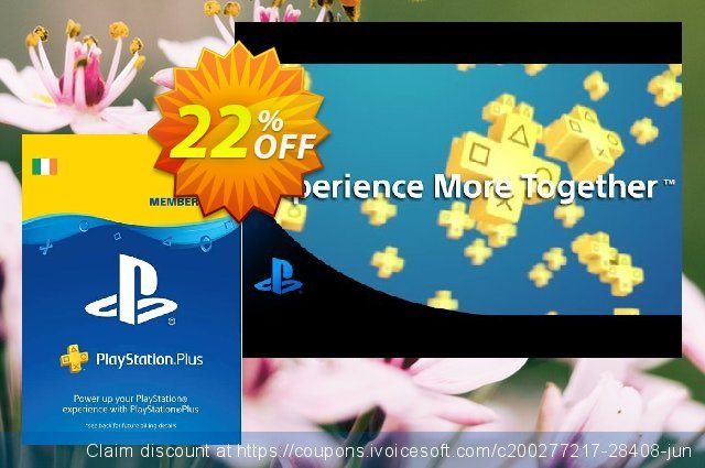 PlayStation Plus - 12 Month Subscription (Ireland) discount 22% OFF, 2020 Thanksgiving offer