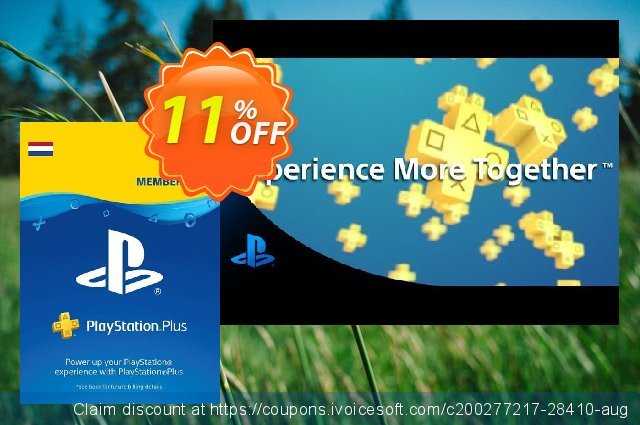 Playstation Plus (PS+) - 3 Month Subscription (Netherlands) discount 10% OFF, 2020 University Student offer offer