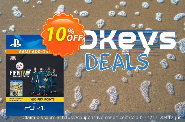 1050 FIFA 17 Points PS4 PSN Code - UK account discount 10% OFF, 2021 Father's Day deals. 1050 FIFA 17 Points PS4 PSN Code - UK account Deal