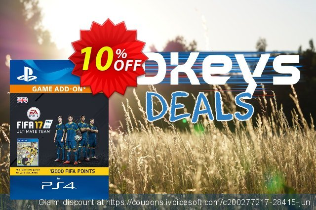 12000 FIFA 17 Points PS4 PSN Code - UK account discount 10% OFF, 2020 End year offering sales