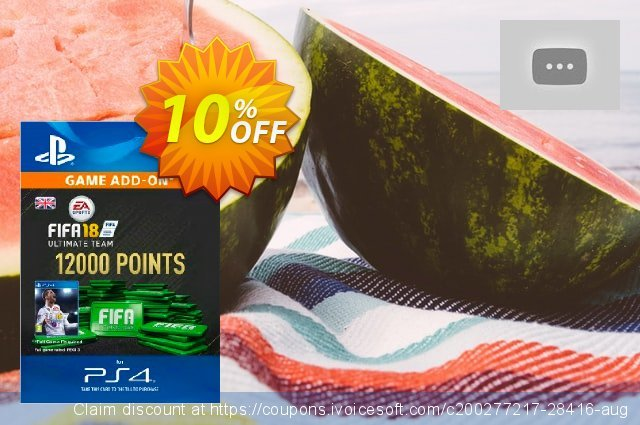12000 FIFA 18 Points PS4 PSN Code - UK account discount 10% OFF, 2020 Black Friday offering sales