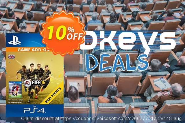 1600 FIFA 16 Points PS4 PSN Code - UK account discount 10% OFF, 2020 Black Friday offering sales