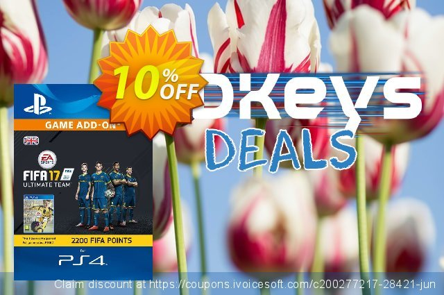 2200 FIFA 17 Points PS4 PSN Code - UK account discount 10% OFF, 2020 Thanksgiving Day offering sales