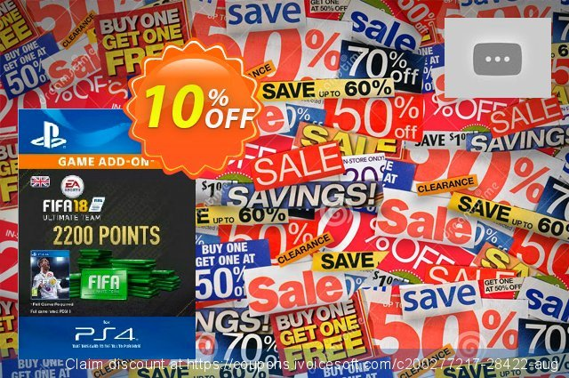 2200 FIFA 18 Points PS4 PSN Code - UK account discount 10% OFF, 2020 Black Friday offering sales