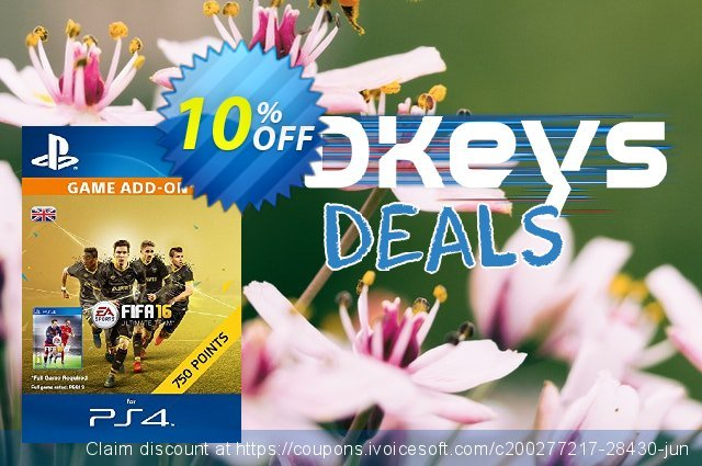 750 FIFA 16 Points PS4 PSN Code - UK account  신기한   매상  스크린 샷