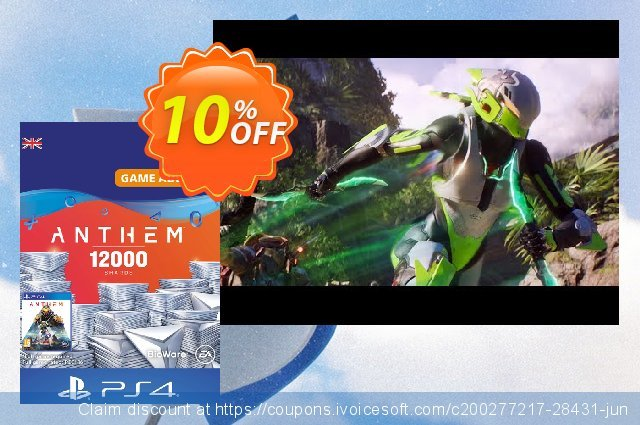 Anthem 12000 Shards PS4 (UK) discount 10% OFF, 2020 Halloween offering sales