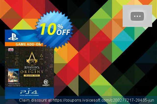 Assassins Creed Origins Season Pass PS4 discount 10% OFF, 2020 Thanksgiving offering sales