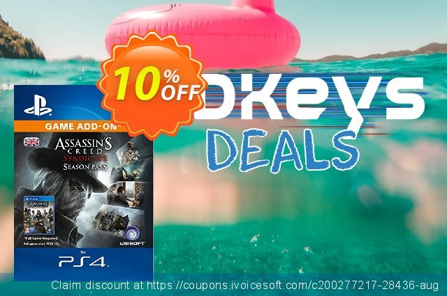Assassins Creed Syndicate - Season Pass PS4 discount 10% OFF, 2020 Christmas offering sales
