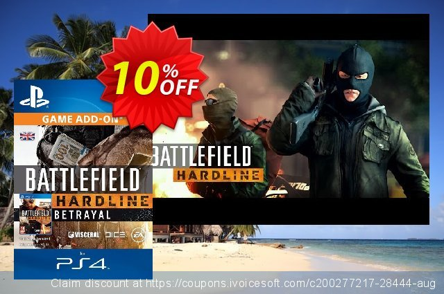 Battlefield Hardline Betrayal DLC PS4 可怕的 折扣码 软件截图