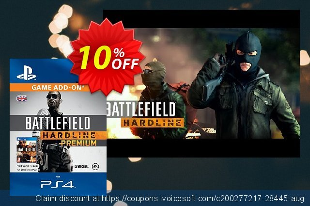 Battlefield Hardline Premium PS4 discount 10% OFF, 2020 Thanksgiving Day deals