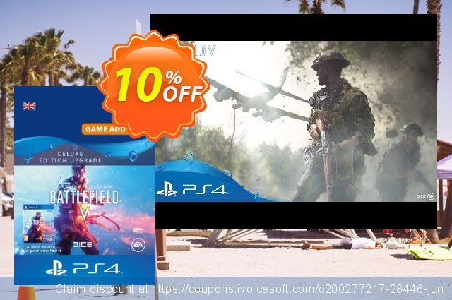 Battlefield V 5 Deluxe Edition Upgrade PS4 discount 10% OFF, 2020 Xmas discount