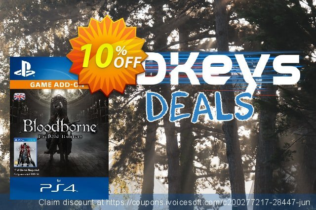 Bloodborne The Old Hunters DLC PS4 discount 10% OFF, 2020 Thanksgiving discount