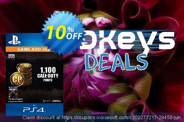 Call of Duty (COD) Black Ops III 3 Points 1000 (+100) PS4 discount 10% OFF, 2020 Exclusive Student discount offering discount