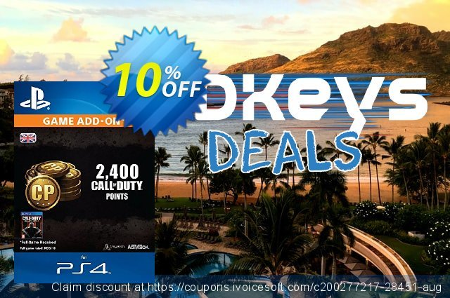 Call of Duty (COD) Black Ops III 3 Points 2000 (+400) PS4 discount 10% OFF, 2020 Exclusive Teacher discount offering sales