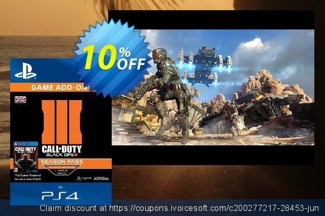 Call of Duty (COD): Black Ops III 3 Season Pass (PS4) discount 10% OFF, 2020 New Year's eve offering sales