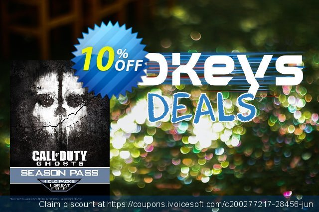 Call of Duty (COD): Ghosts - Season Pass (PSN) PS3/PS4 discount 10% OFF, 2020 Thanksgiving offering sales