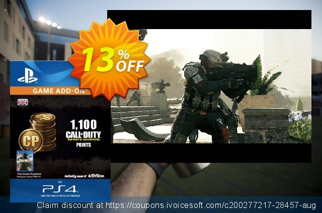 Call of Duty (COD) Infinite Warfare - 1100 Points PS4 discount 13% OFF, 2020 Thanksgiving Day offering sales