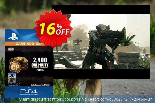 Call of Duty (COD) Infinite Warfare - 2400 Points PS4 discount 16% OFF, 2020 Black Friday offering sales