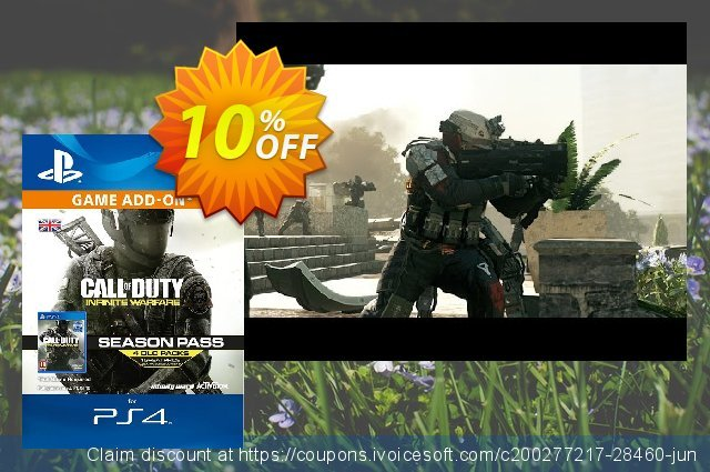 Call of Duty (COD) Infinite Warfare - Season Pass PS4 discount 10% OFF, 2020 Thanksgiving Day offering sales