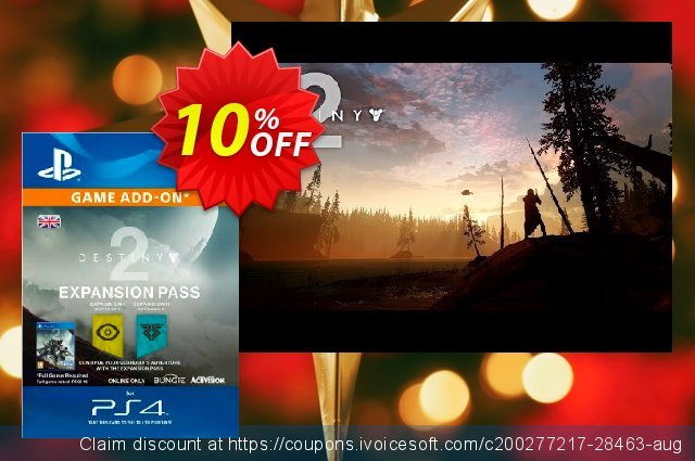 Destiny 2 Expansion Pass PS4 discount 10% OFF, 2020 Christmas deals