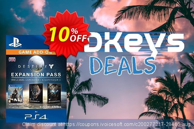 Destiny Expansion Pass PS4 discount 10% OFF, 2020 Halloween offer