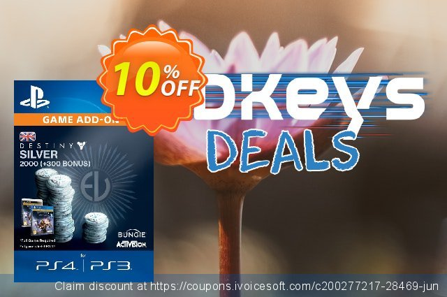 Destiny Silver 2000 (300) PS4 discount 10% OFF, 2020 Thanksgiving Day offering deals