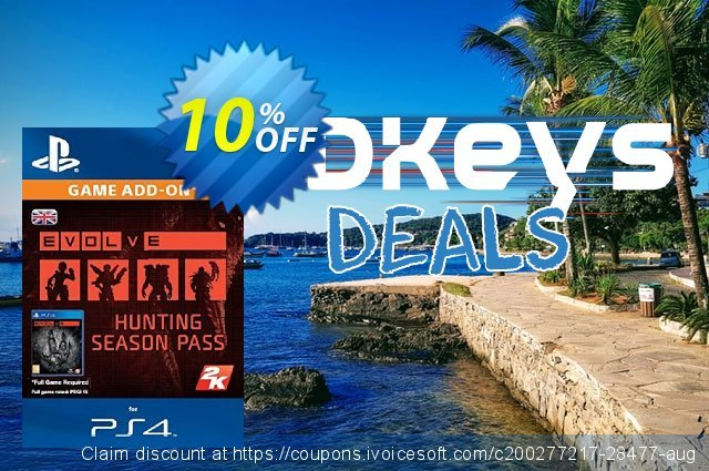 Evolve Hunting Season Pass PS4 discount 10% OFF, 2020 Thanksgiving offering sales