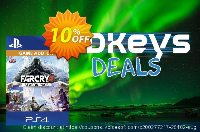 Far Cry 4 Season pass PS4 discount 10% OFF, 2020 Black Friday sales