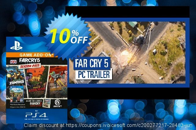 Far Cry 5 Season Pass PS4 discount 10% OFF, 2020 Thanksgiving deals