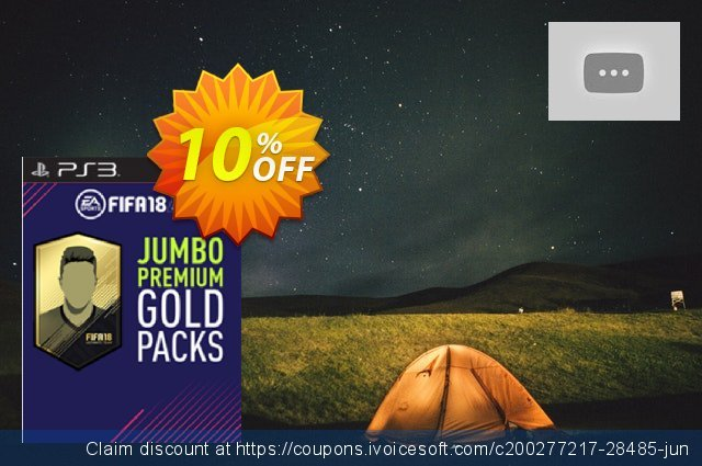FIFA 18 PS3 - 5 Jumbo Premium Gold Packs DLC  대단하   촉진  스크린 샷