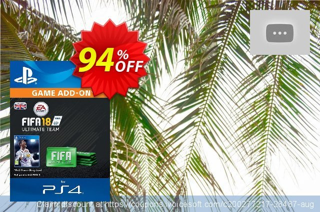 FIFA 18 Ultimate Team Pack PS4 discount 94% OFF, 2020 Thanksgiving Day offering sales