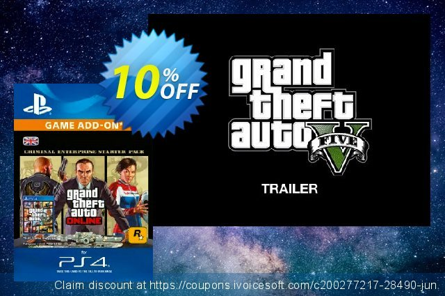 Grand Theft Auto Online (GTA V) - Criminal Enterprise Starter Pack PS4 激动的 折扣码 软件截图