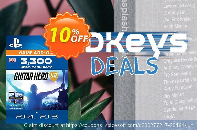Guitar Hero Live 3300 Hero Cash Pack PS4 discount 10% OFF, 2020 Xmas offering sales