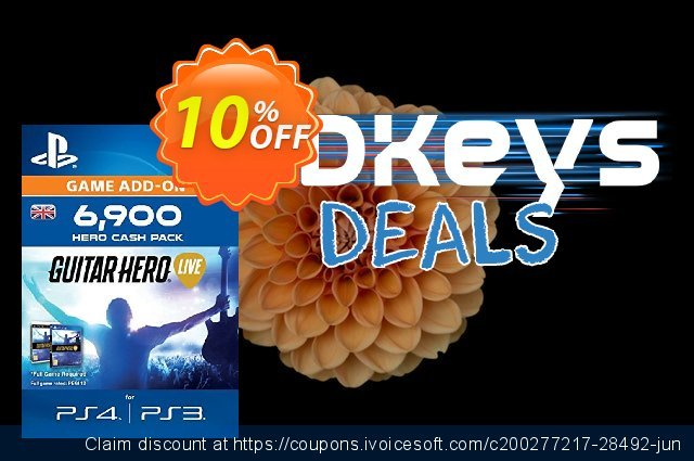 Guitar Hero Live 6900 Hero Cash Pack PS4 discount 10% OFF, 2021 New Year's Day sales