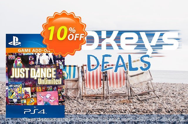 Just Dance Unlimited 12 months PS4 discount 10% OFF, 2020 Thanksgiving offering sales