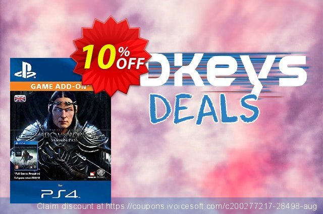 Middle-earth Shadow of Mordor Season Pass PS4 discount 10% OFF, 2020 Thanksgiving offering sales