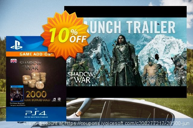 Middle-Earth: Shadow of War - 2200 Gold PS4  특별한   매상  스크린 샷