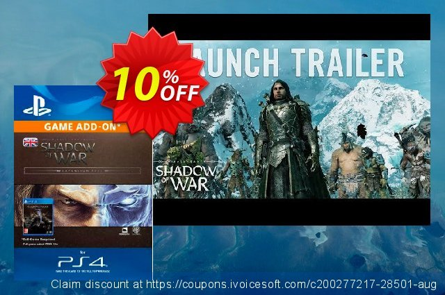 Middle-Earth: Shadow of War Expansion Pass PS4 可怕的 产品销售 软件截图