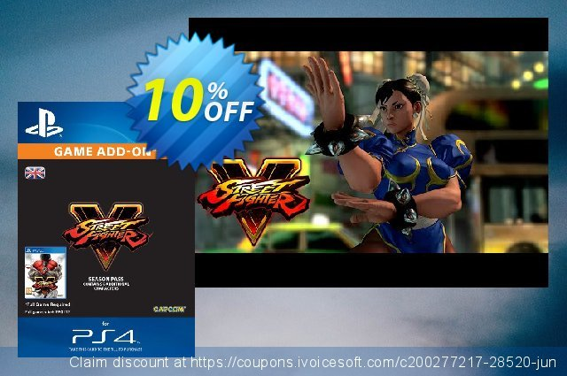Street Fighter V 5 2016 - Season Pass PS4 惊人的 折扣 软件截图
